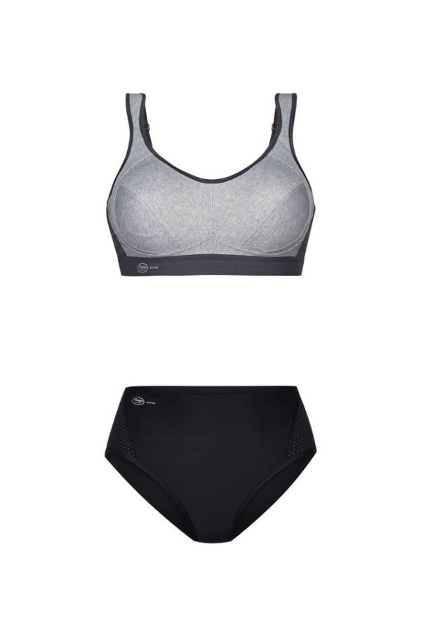 Anita Sport bh grijs met anita sportslip zwart